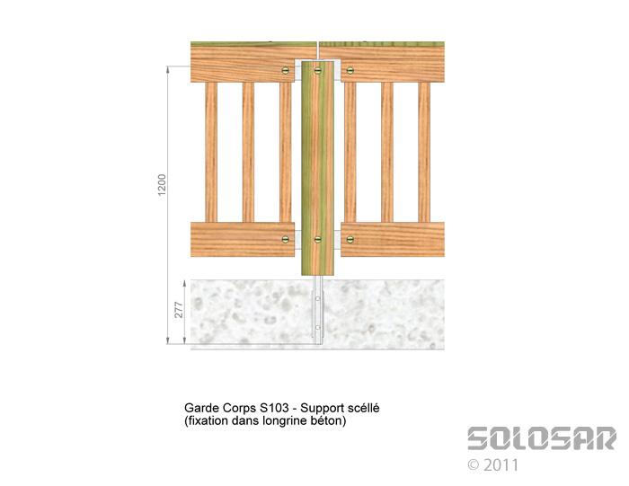 S103 - support scellé standard