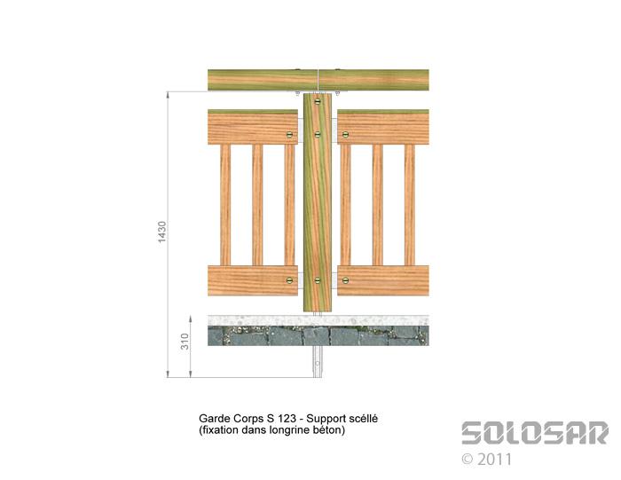 S123 - support scellé standard