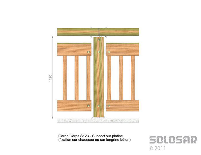 S123 - support sur platine